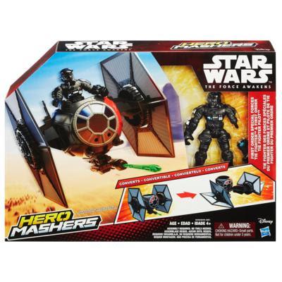 TOYS : JUGUETES - STAR WARS : Hero Mashers TIE Fighter + Piloto | Nave + Figura - Muñeco El Despertar de la Fuerza - The Force Awakens Producto Oficial Película Disney 2015 | Hasbro B3703 | A partir de 4 años Comprar en Amazon España & buy Amazon USA