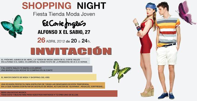 Shopping night el corte ingl s my vintage memoirs - Personal shopper alicante ...