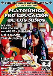 PLATO UNICO PRO EDUCACION DE LOS NIÑOS-24 de Julio