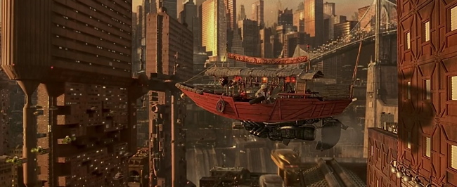 Restaurační loď z filmu Pátý element
