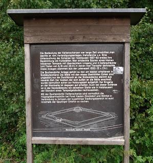 Informationstafel an der Keltenschanze Buchendorf