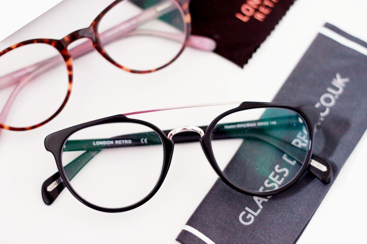 Glasses Direct London Retro Frames in Keaton Black