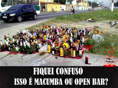 meme Isso e Macumba ou Open Bar