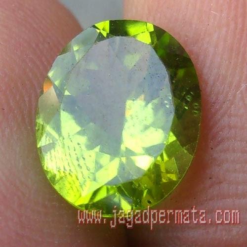 Batu Permata Green Peridot Asli