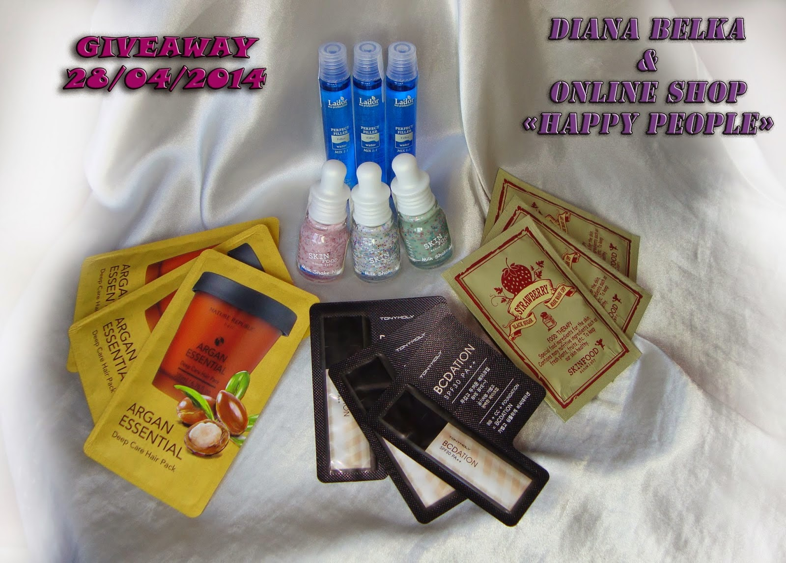 "Diana Belka & online-shop ""Happy People"" GIVEAWAY 28/04/2014"