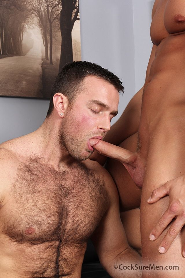 Hot hairy muscle hunk Heath Jordan and blonde muscle stud Brady Jensen sucking dick