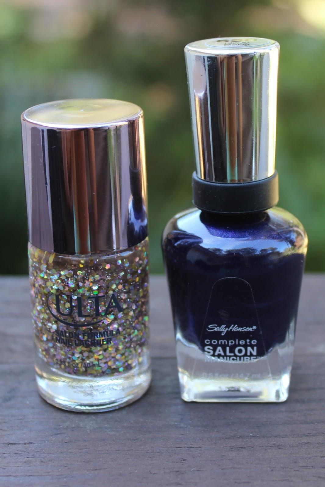 Starry Night Manicure - White Lights on Wednesday