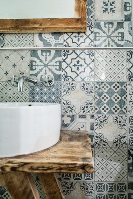 To Da Loos Mix Matched Patchwork Pattern Tile Bathrooms