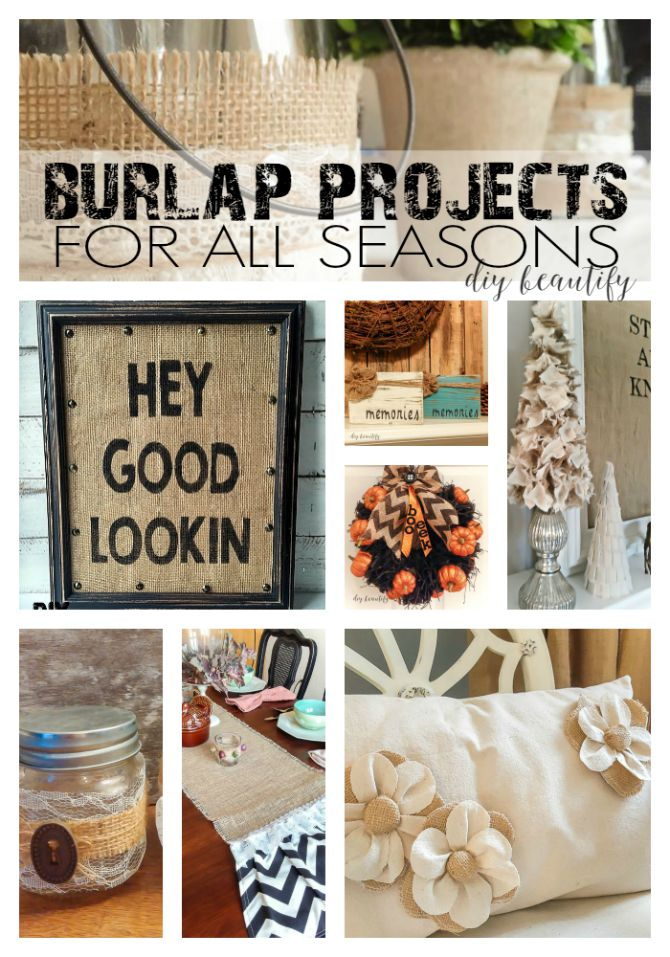 Fabulous burlap projects for the home!