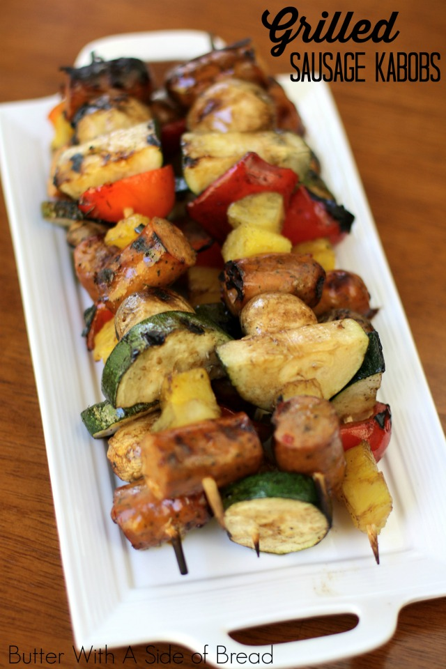 GRILLED SAUSAGE KABOBS: Butter With A Side of Bread