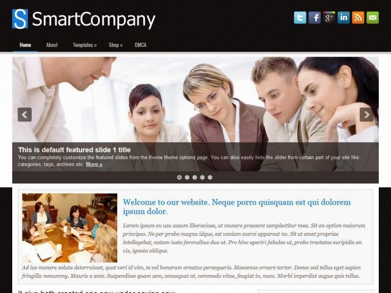 SmartCompany - Free Wordpress Theme