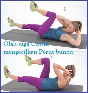 Melangsingkan perut dengan olah raga Bycicle Excercise