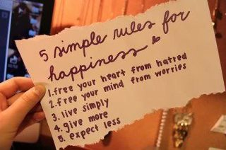 how to be happy again, simple rules for happiness