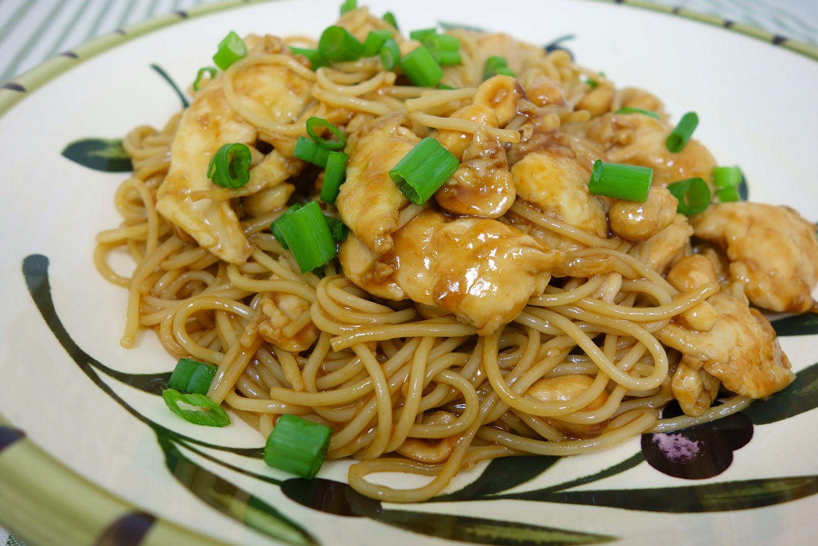 Kung Pao Chicken Spaghetti Plain Chicken