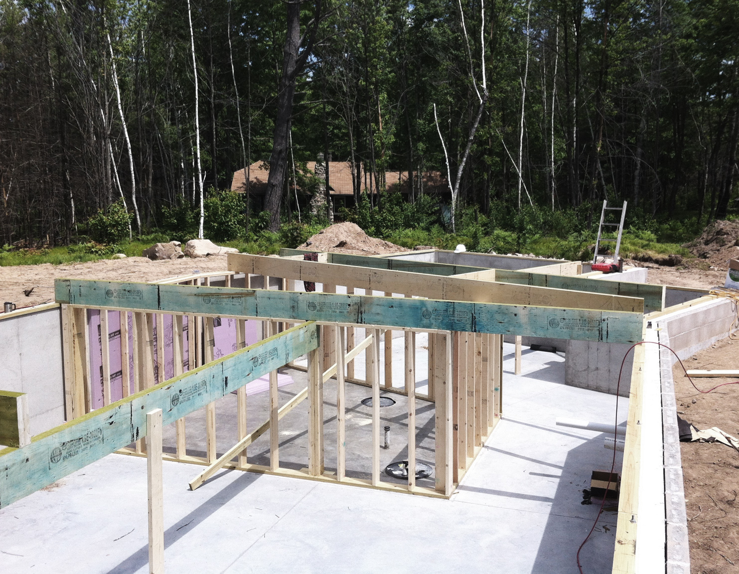 The BLDGtyp Blog: Floor Framing and the First Walls Going Up