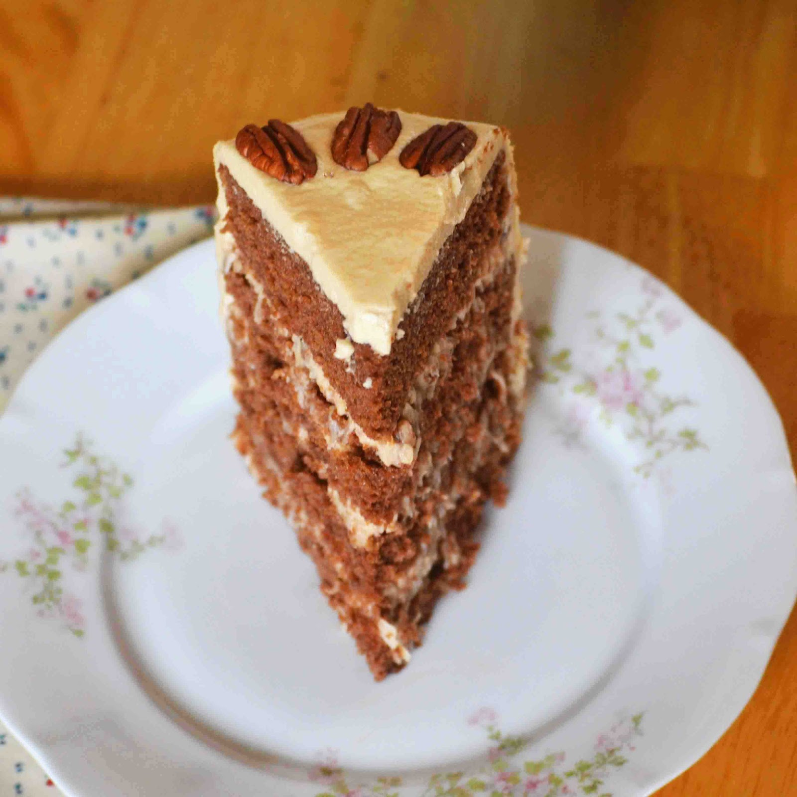 Chocolate Cake With Coconut-Pecan Frosting Recipe — Dishmaps