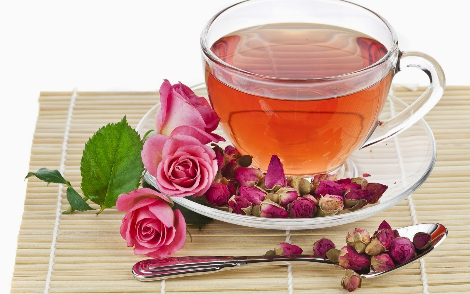 The following are the active constituents of rose petal tea: