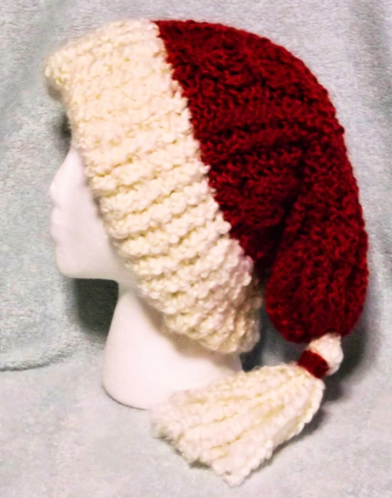 Knitting Pattern For Santa Hat : The Loom Muse : How to Loom Knit a Cabled Santa Hat