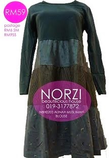 (LESS 20% UNTIL AIDILFITRI) NBH0203 AUNAH BLOUSE