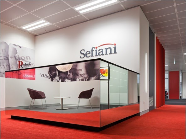 Sefiani Office Design With Modern Red And White Home