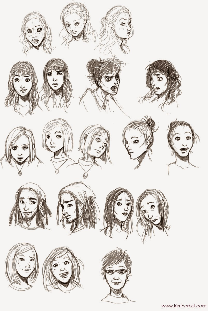 Line Drawings Of Facial Expressions : Fashion illustrations facial expressions
