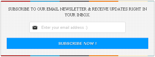 Social media with email subscription widget for blogger