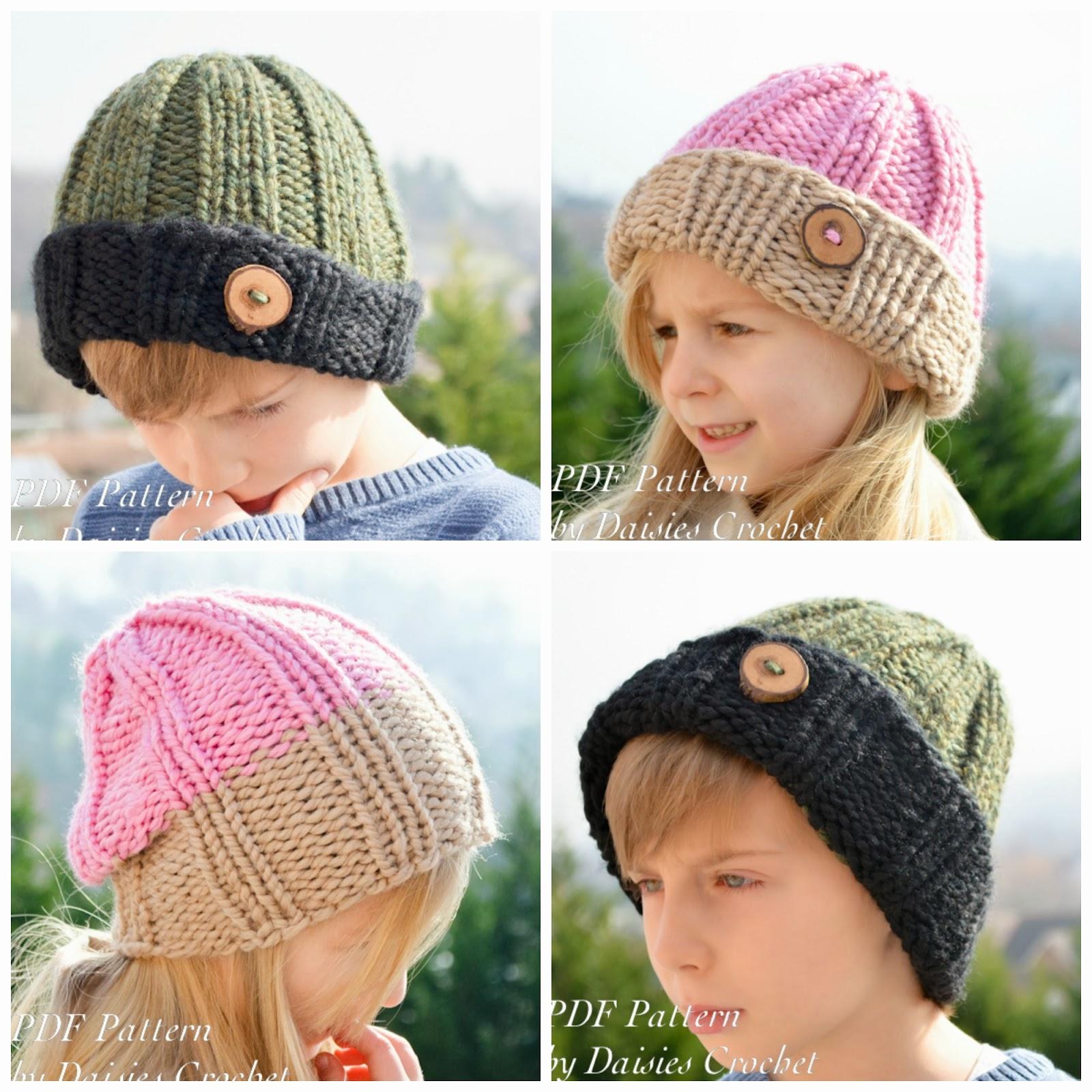 Daisies Crochet: Knitting pattern. Reversible beanie. Clomder hat ...