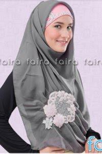 Faira Jilbab BA 377 - Abu (Toko Jilbab dan Busana Muslimah Terbaru)