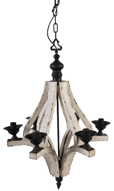 A&B Home Wood and Metal Chandelier