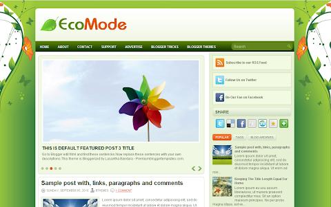 EcoMode Blogger Theme