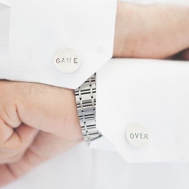 http://www.whitetrufflestudio.com/collections/cufflinks/products/date-cufflinks-hand-stamped-style-50