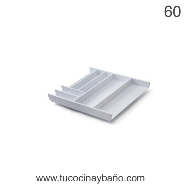 cubertero cajon cocina 60 blanco