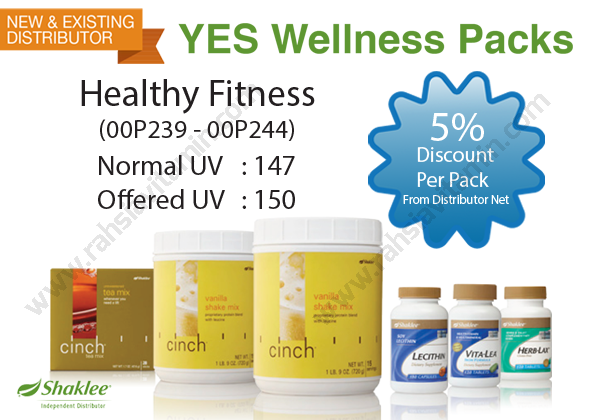 Shaklee YES Wellness Pack - Healthy Fitness