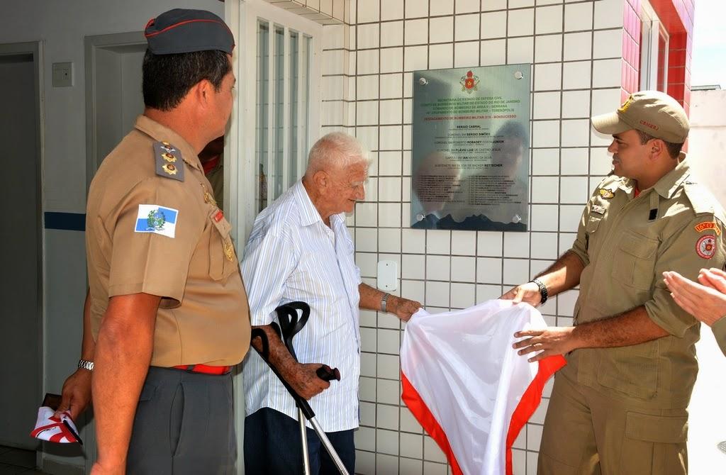 Descerramento da placa comemorativa do primeiro ano de implantação do DBM de Bonsucesso