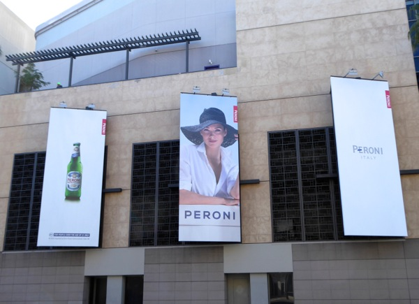 Peroni beer sun hat billboards