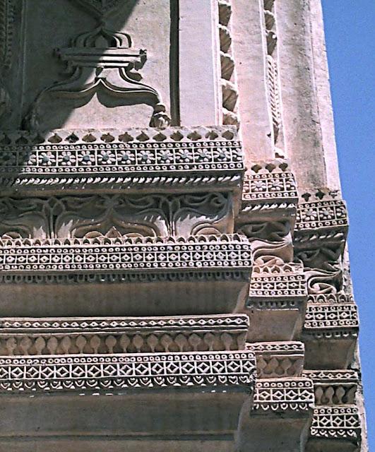 carved wall of golkonda fort in Hyderabad