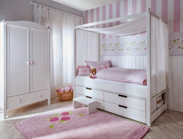 Cuarto de ni a en rosa y gris ideas para decorar dormitorios for Cuarto de nina rosa palido