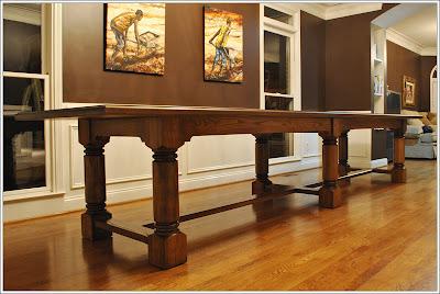 Turner Custom Furniture A Very Large Custom Dining Table