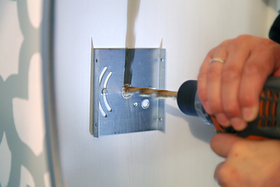 Installing Bathroom Sconces iheart organizing: how to: install light sconces anywhere!