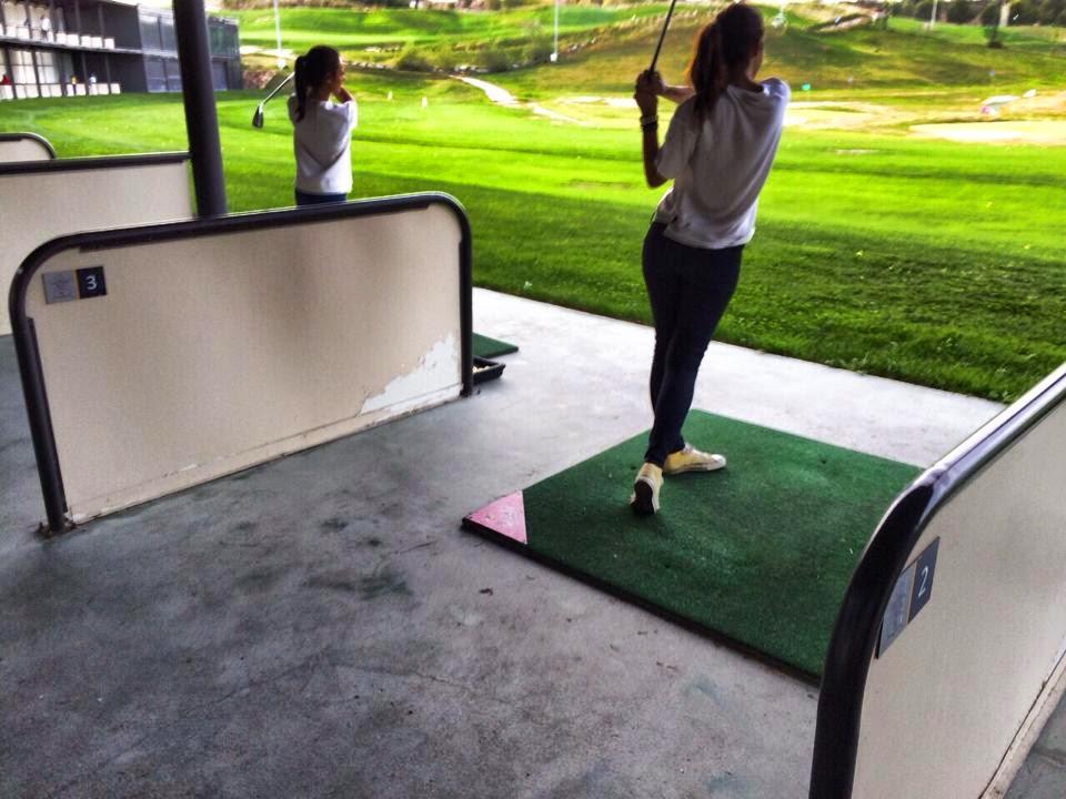 Primeras practicas de principiantes en golf