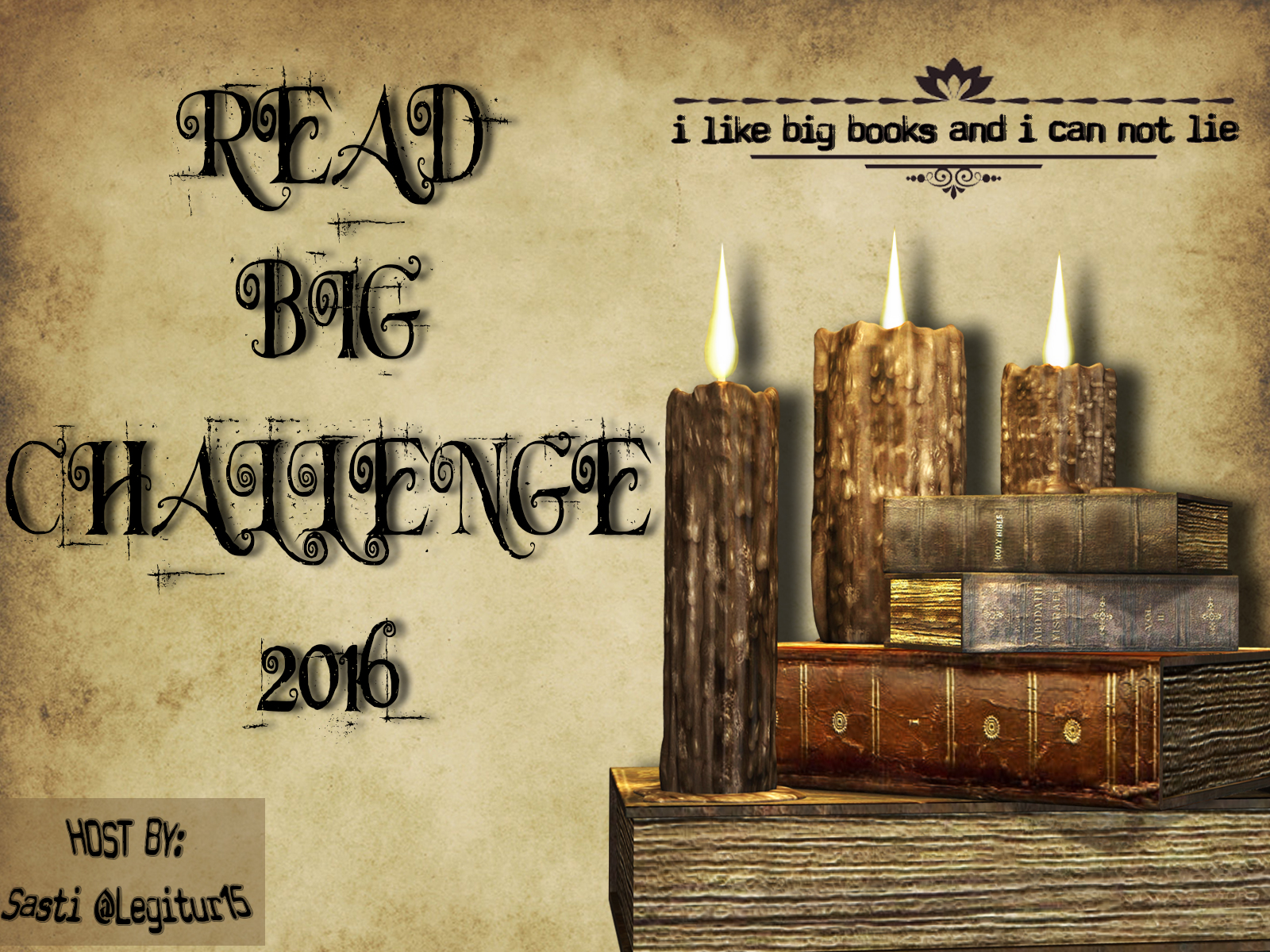 Read Big Challenge 2016 Hosted by Sasti@Legitur15