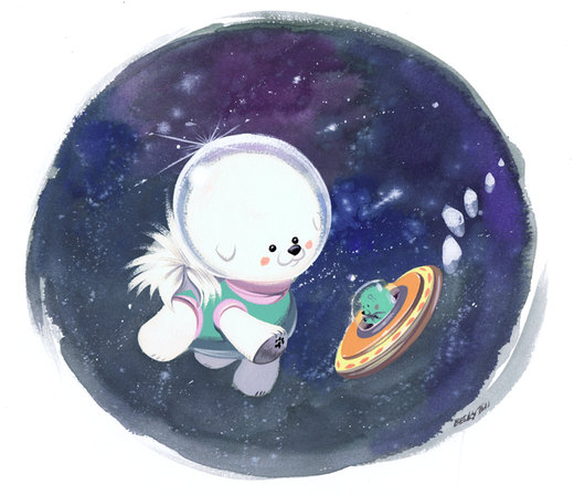 Space Bichon por Pocketowl