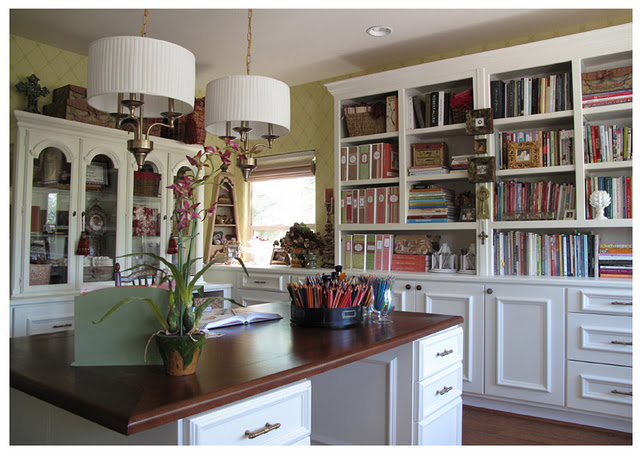 New england fine living photos of beautiful work spaces and offices for women - Home office space design ...