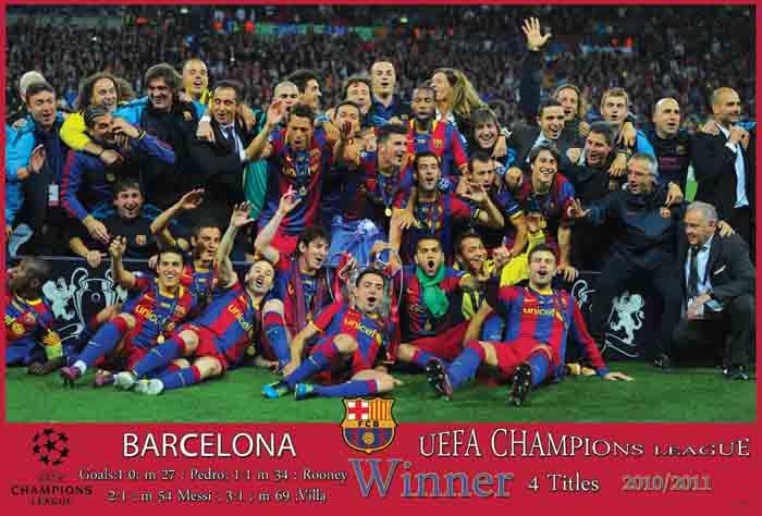 BARCELONA EUFA CHAMPION LEAGUE