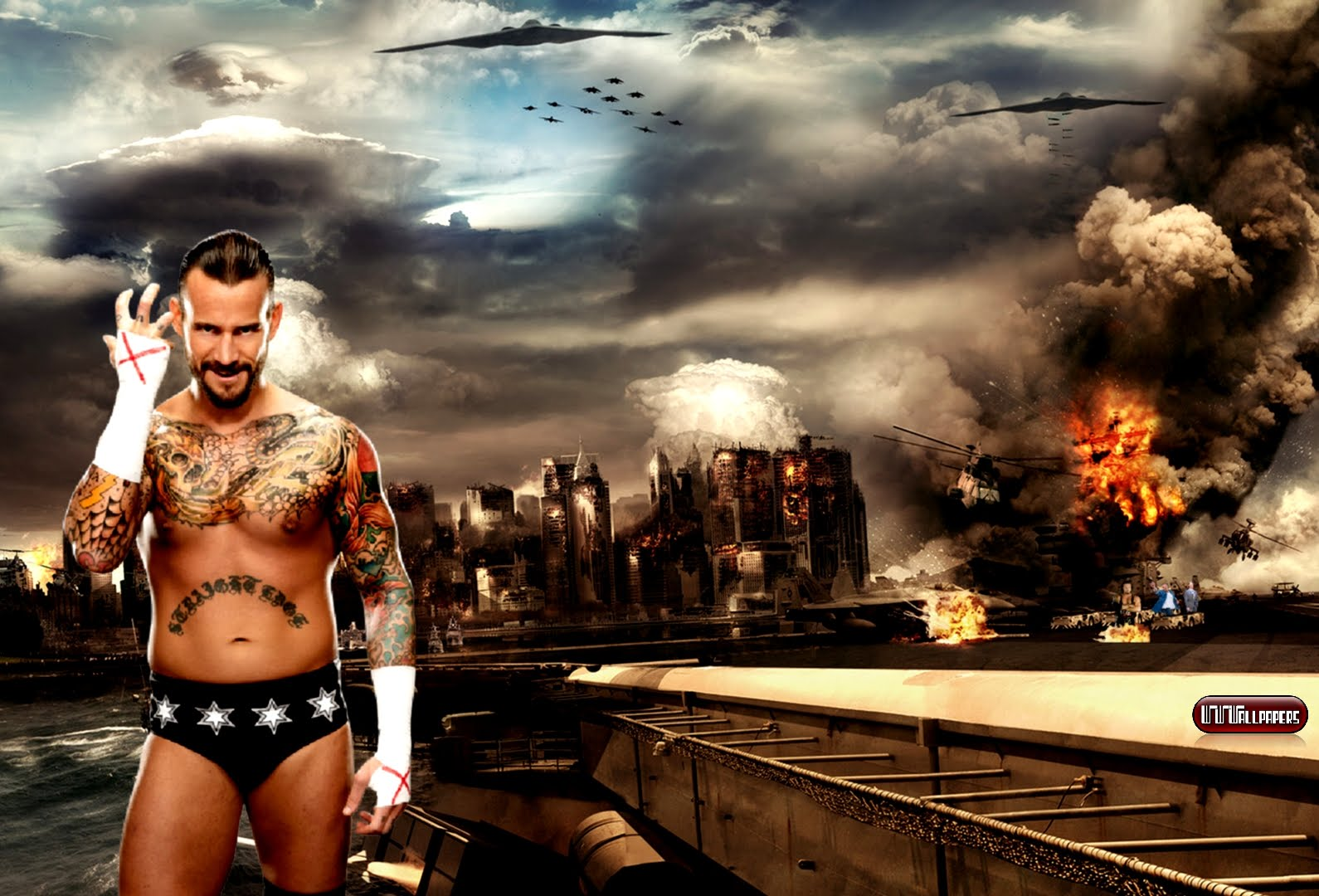 cm punk new 2012 wallpapers wrestling stars