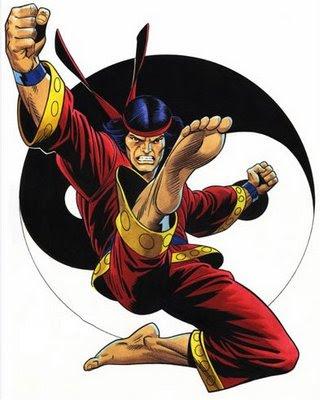 Dibujo de Shang-Chi por Keith Pollard