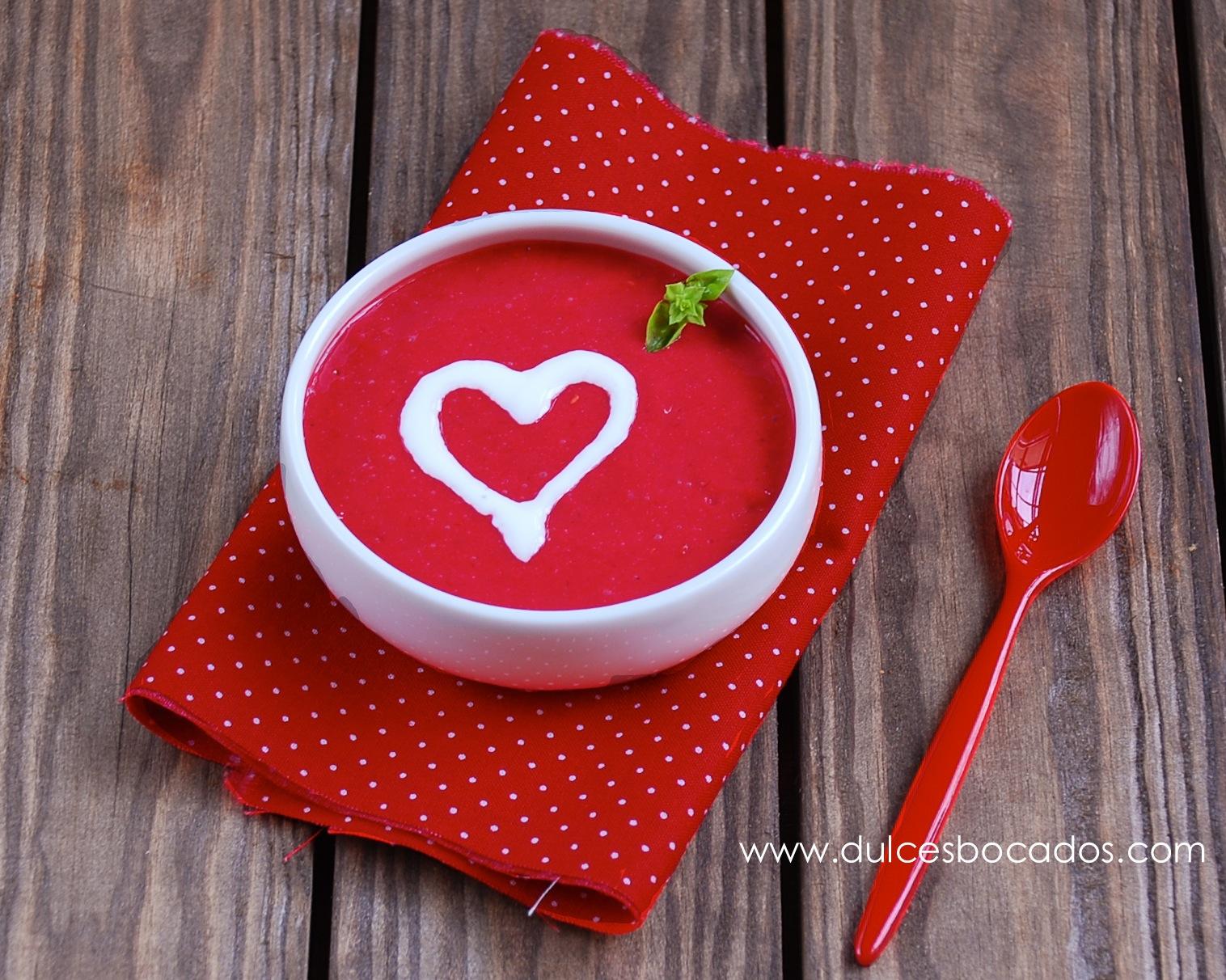 Sopa de frambuesa - San Valentin - Dulces bocados