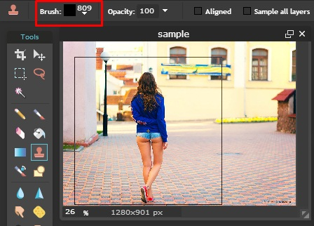 Clone Stamp Tool Foto Editor Online