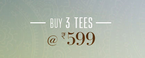 Zovi : Tshirt pack of 3 from Rs. 599