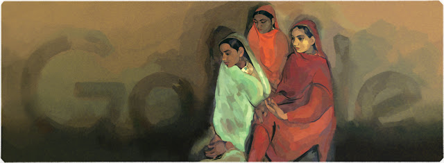 Amrita Sher-Gil's 103rd Birthday - Google Doodle